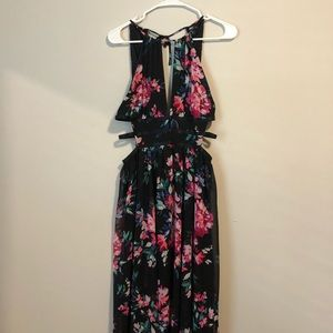 Express Floral Strappy Maxi Dress